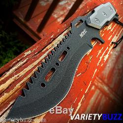 MTECH SURVIVAL HUNTING RAMBO COMBAT BOWIE KNIFE 12 Fixed Blade with SHEATH BLACK