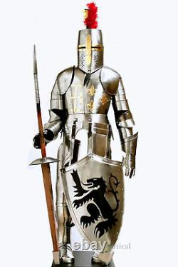 Medieval Knight Suit Of Full Body Armour Stainless Steel Templar Combat Armor