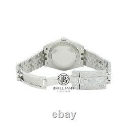 Mens Rolex Datejust II 126300 Stainless Steel 41MM Full Diamond Watch 25.5Ct