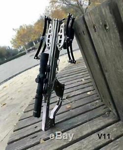 Mini Crossbow Shooting Toy V11 Full Stainless Steel Plays for Garden
