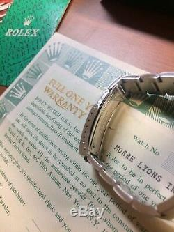 NOS Rolex Explorer I Ref 5500 Stainless Steel Rolex Full Set Box and Paper -5513