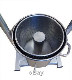 New 15L Heavy Duty Full Stainless Steel Wine/Cider Press With Hydraulic Jack Aid
