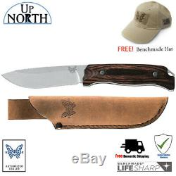 New! Benchmade HUNT 15001-2 Fixed Blade Knife S30V Blade Wood Handle