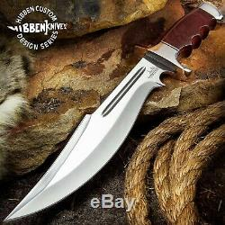 New Gil Hibben Legionnaire Bowie Knife II Full Tang withLeather Belt Sheath GH5068