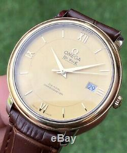 Omega DeVille Prestige 18K Gold Mens dress watch Co-Axial Full Set Automatic