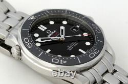 Omega Seamaster 300m Full Size Co-Axial Automatic Watch Black Bezel 2015