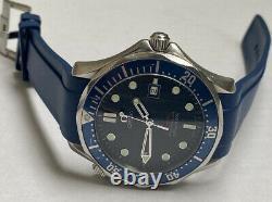 Omega Seamaster Pro 300M 2221.80 Full Size 41mm Blue Dial Bond Quartz Mens Watch