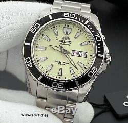 Orient Mako XL Mens Automatic Full Lume 200M Watch FEM75005R9 Brand New