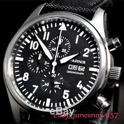 PARNIS Causal Quartz Men's Watch 42mm Full Chronograph Date&Week Indicator