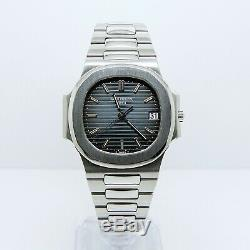 Patek Philippe Nautilus 3800 Box and Papers Full Set Blue Dial Stainless Steel