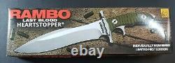 Rambo Last Blood Heartstopper Bowie Full Tang Fixed Blade Knife Certificate 15