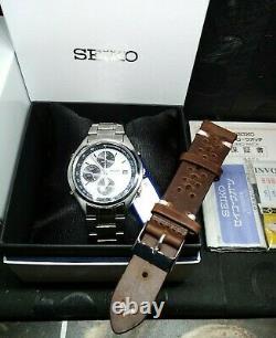 Rare Discon. Seiko Panda SDW725P1 Racing Tachy Chronograph Full Set