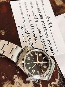Rolex 14000M Air King Black Dial Mens watch 2002 Explorer Full Set Papers Box