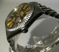 Rolex Datejust Mens Stainless Steel with rare dial, FULL SET, 16030, 1984