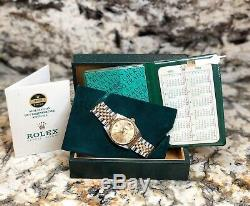 Rolex Datejust Vintage Ref. 16013 Mens 14k/ss Unpolished Mens Watch! Full Set