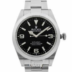 Rolex Explorer Steel Full Lume Numerals Black Dial Automatic Mens Watch 214270