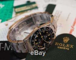 Rolex GMT Master II 16750 Spider Dial 1985 Full Set Collectors Dream