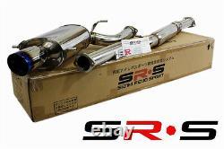SRS Burnt TIP FULL Stainless STEEL Catback Exhaust TYPE-RE WRX 02-07 Subaru STI