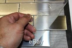 SUBWAY Stainless Steel Mosaic Tile Back Splash Tiles Kitchen Bar Wall Tiles