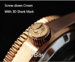 San Martin Bronze 62MAS Watch Full Lum Kanagawa Ocean Wave Dial Watches 20ATM