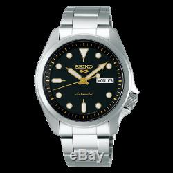 Seiko 5 Sports 40mm Full Stainless Steel Black Dial Automatic Watch SRPE57K1