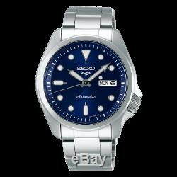 Seiko 5 Sports 40mm Full Stainless Steel Blue Dial Automatic Watch SRPE53K1