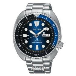 Seiko Prospex Turtle 45 mm Full Stainless Steel Blue Dial Watch SRPC25K1