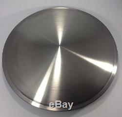 (Set of 4) 15 Stainless Steel Racing Disk Full Moon Hubcaps