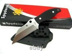 Spyderco FB09GP2 Ronin 2 Fixed Blade Knife Plain Edge CTS-BD1 G10 Handle +Sheath