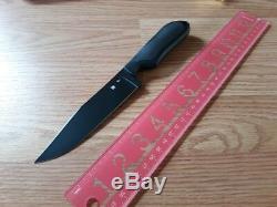 Spyderco Street Bowie Knife 5 Black VG10 Steel Fixed Blade FRN Rubber Handle