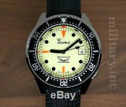 Squale 1521 Full Luminous 50 Atmos Diver 500m International Shipping Us Dealer