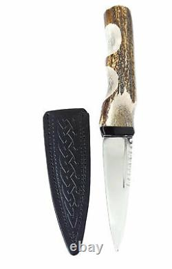 Stag Handle Sgian Dubh Made In Scotland