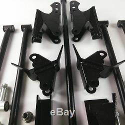 Stainless Steel HD Parallel Full Size Universal 4 Link Kit with Shock Hardware