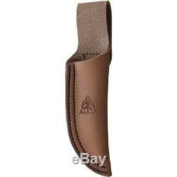 TOPS Bull Trout Full Tang Burlap Micarta 154CM Fixed Blade Knife BLTT01