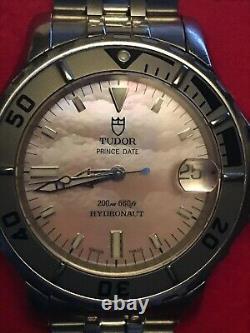 TUDOR (ROLEX) Prince Date Hydronaut Submariner MOP DIal RARE FULL SET-MINT