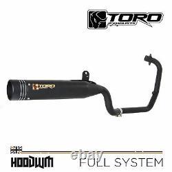 Toro Matt Black/Stainless Full Exhaust System Sinnis Hoodlum 125 2017-2020