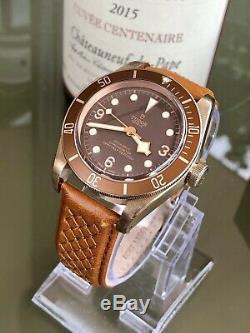 Tudor 79250BM Bronze 2018 Black Bay 43mm Automatic Mens Full Set 3 straps watch