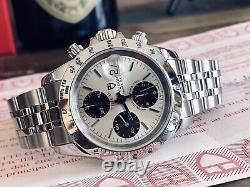 Tudor Tiger Full Set Chronograph Panda Dial Mens 40mm Steel Box Papers watch