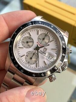 Tudor Tiger Full Set Chronograph White Dial Mens 79260 Steel Box Papers watch