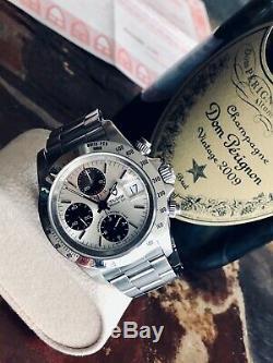 Tudor Tiger Full Set Rolex Daytona Panda Dial Mens 40mm steel Paul Newman watch