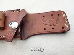Vintage Randall 14 attack knife S Blade Saw teeth Oblong Hilt Rough Back sheath
