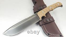 Wander Tactical Dimorphodon Brown Micarta Handle D2 Steel Fixed Blade Knife 02RG