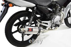 YBR 125 2005 2017 Full Exhaust System 300SS Oval Stainless Silencer