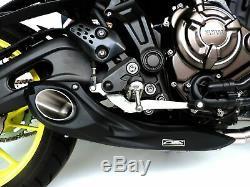 Yamaha FZ07 MT07 Full exhaust system + muffler + header 2014-on CS Racing