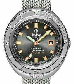 ZODIAC SUPER SEAWOLF 68 LIMITED EDITION 50th ANNIVERSARY WATCH FULL SET! ZO9507