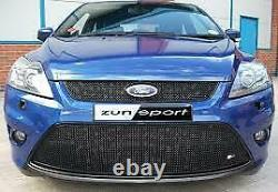 ZUNSPORT BLACK FRONT FULL LOWER GRILLE SET for FORD FOCUS ST 08MY 2008-10
