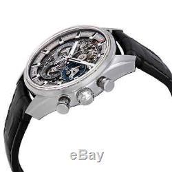 Zenith Chronomaster El Primero Full Open Skeleton Dial Automatic Men's Leather