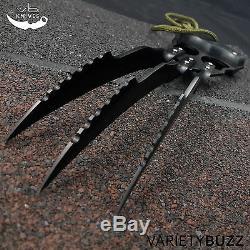 10 Black Griffe À Lame Fixe Fantasy Couteau De Chasse Combat Cosplay Avec Fourreau X-men