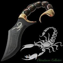 13.7 Épée De Couteau Et Plaque D'affichage Fantasy Scorpio Scorpion Dagger #0011