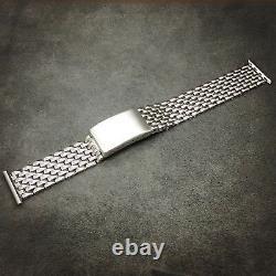 17mm Perles De Riz Bracelet En Acier Inoxydable Polonais Complet Pour Vintage Watch Bor
